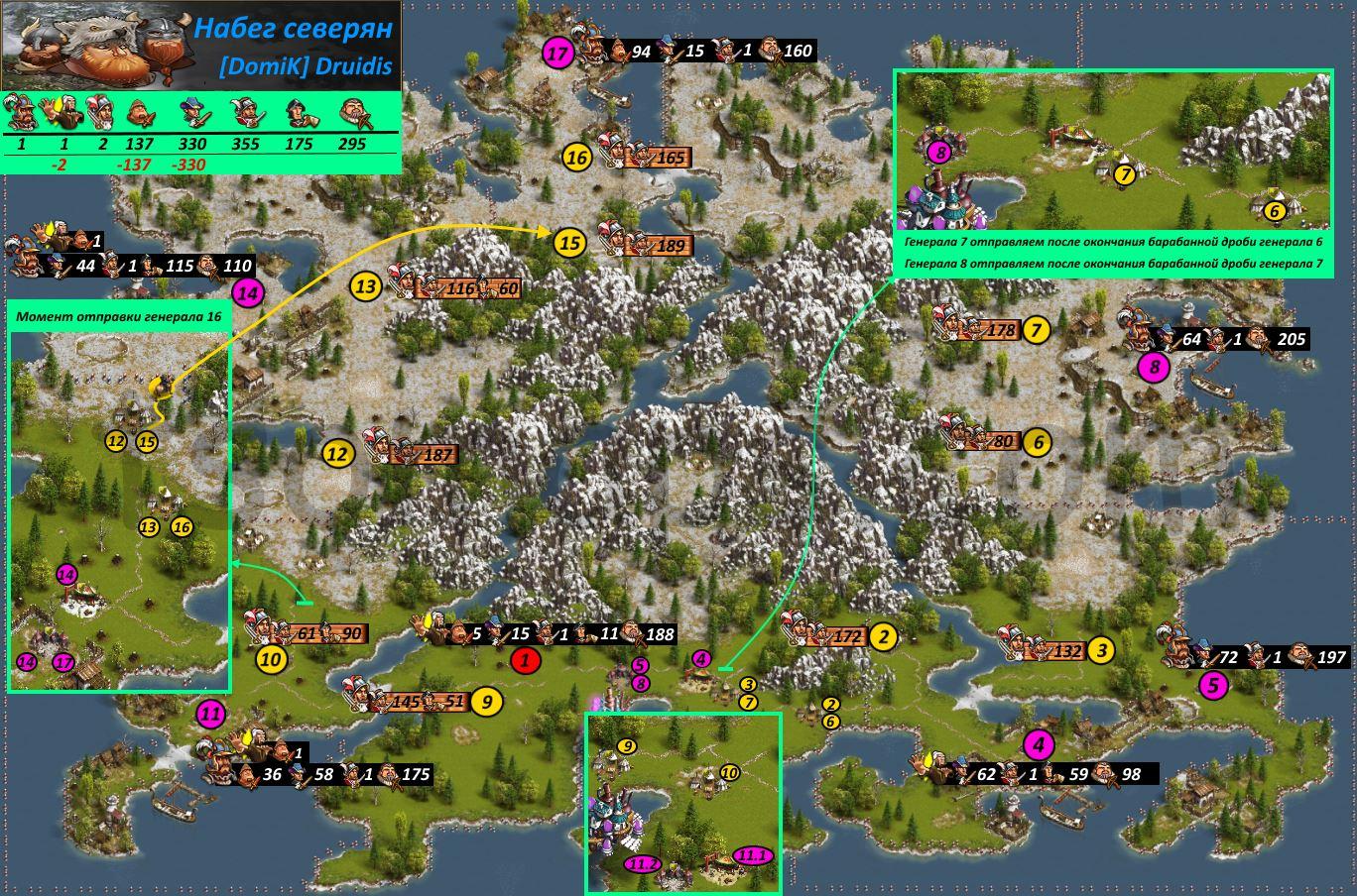 Mapa Ataque De Los Norte Os The Settlers Online Guides