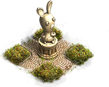 Estatua de Raving Rabbid